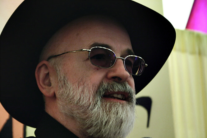 Pratchett described himself as a non-descript student